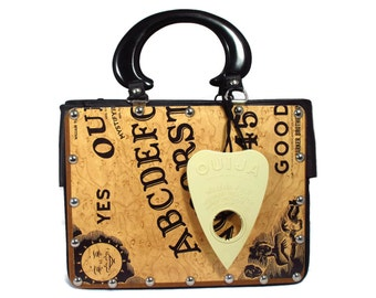 Vintage William Fuld Ouija Game Board Recycled Handbag
