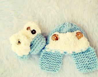 Baby Boy Hat, Newborn Boy, Baby Boy Gift, Crochet Baby Boy Hat, Crochet Baby Booties,  Blue Baby Hat, Cute Baby Boy Hat, Baby Booties, Blue