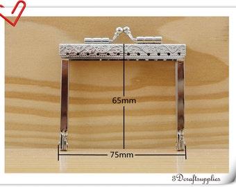 Purse frame,7 CM, Silver ,sewing purse frame , Purse supplies,purse making,Wallet frame B72