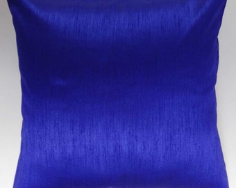 Royal Blue pillow. art  silk throw pillow. 18x18 inch.  on discount.  2 pcs set. billow  price  is  for  2  pcs. custom made.