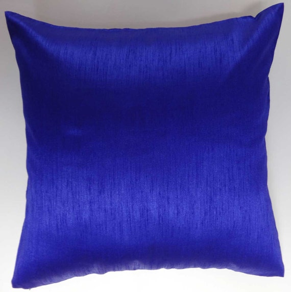 Throw Pillows Royal Blue : Royal Blue pillow. art silk throw pillow. 18x18 inch. on