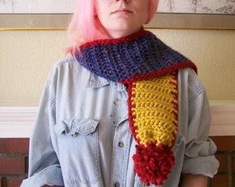 primaries crocheted scarf