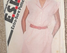 Vintage Simplicity Misses Pullover Dress Pattern 9428 Size 8/10/12