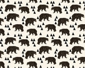 Spoonflower's Geometric Bear fabric designed by Andrea Lauren - printed on a variety of cotton fabrics - by the yard