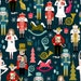 Christmas Fabric - Nutcracker Fabric Xmas Holiday Small Scale By Andrea Lauren- Cotton fabric by the yard with Spoonflower