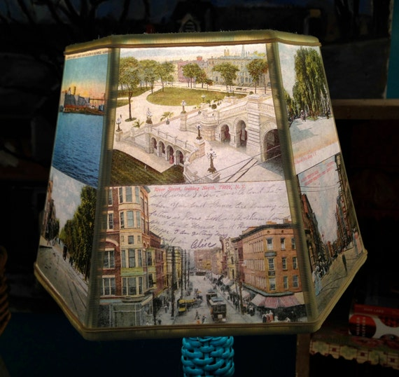 Lamp Shades Albany Ny: Albany NY Lamp Shade, Lampshade Vintage Postcards, 7x10x7 Clip, Desk Lamp  Shade,Lighting