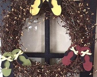 """18"""" Flip Flops, wreath"""
