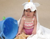 Personalized Ally Bug Unicorn  hooded towel