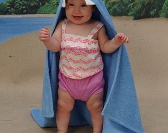 Personalized Ally Bug Shark hooded towel