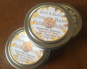 Feliz Navidad Christmas Fragrance Winter Balm for Dry Rough Skin