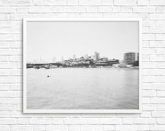 San Francisco Skyline Photography, Wall Decor, Travel Photography, City of Love, Black White Photo, Fpoe, Landscape Photo - SF