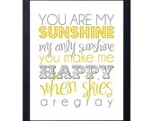 instant download- you are my sunshine print