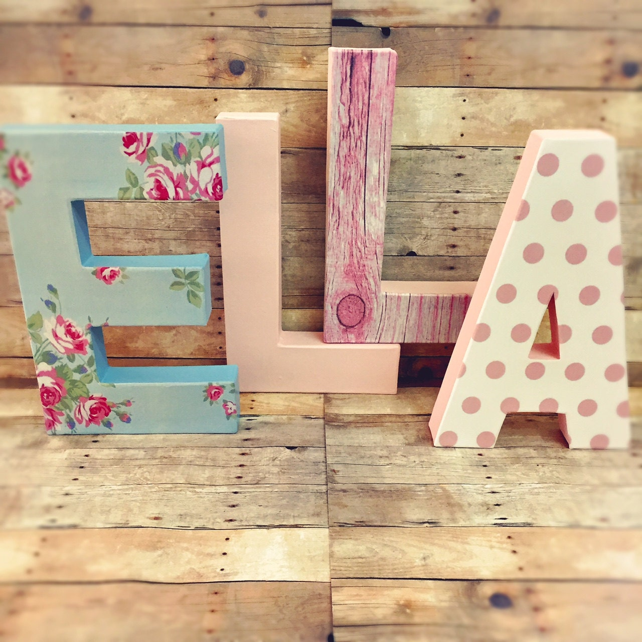 Shabby Chic Letters Floral Letters Vintage Nursery Letters