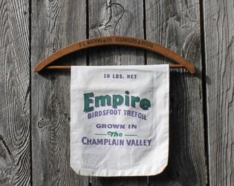 Vintage Seed Sack, Empire Brand, Lake Champlain Valley, Vermont New York, Feed Sacks