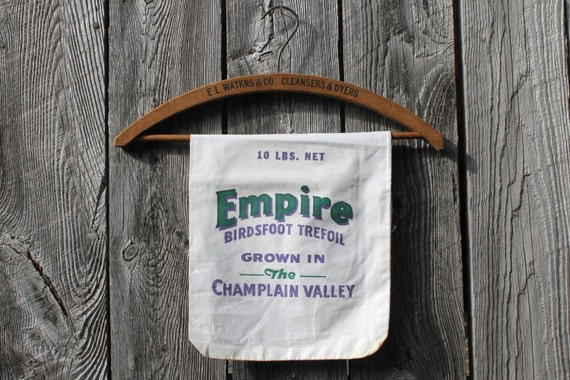 Vintage Seed Sack, Empire Brand, Lake Champlain Valley, Vermont New York, Feed Sacks