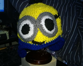 Personalized Crocheted Hat Made to Order OOAK - MINIONS