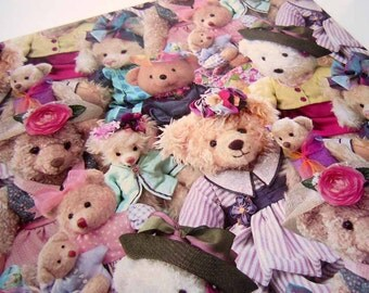 Vintage 1990's All Occasion Wrapping Paper   Teddy Bear Stuffed Animal Gift Wrapping Paper