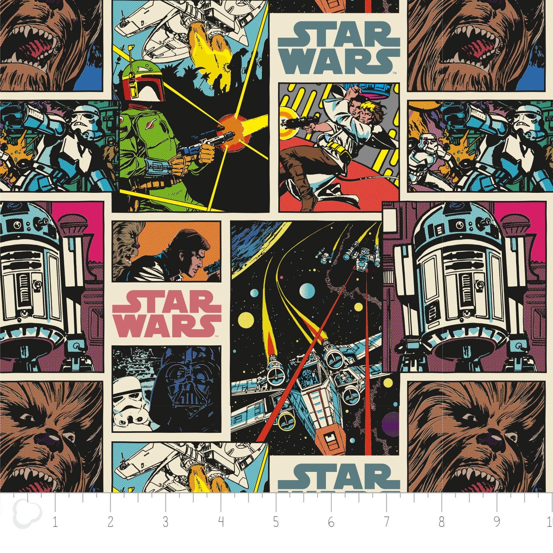 Star wars immortals comic strip fabric for Star wars fabric