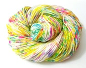 Hand dyed speckled confetti yarn