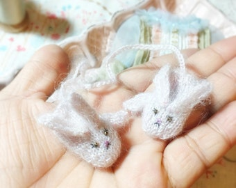 jiajiadoll hand-knitting pink bunny mittens gloves fit momoko and Misaki or blythe
