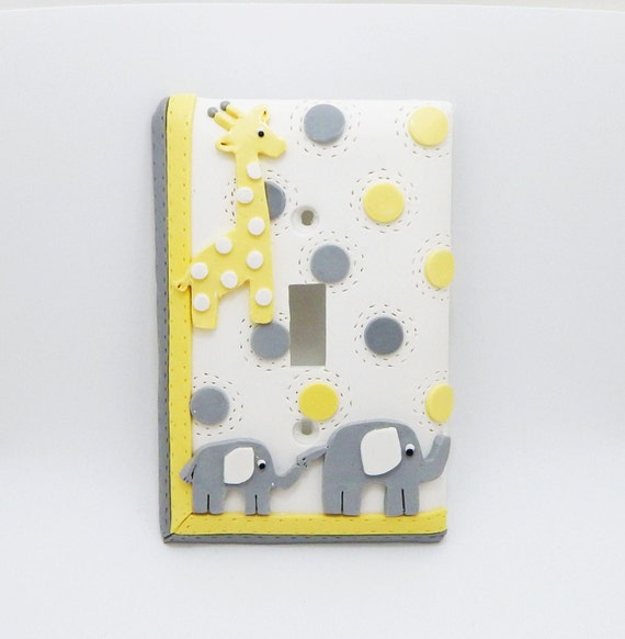 Items Similar To Giraffe And Elephant Light Switch Cover