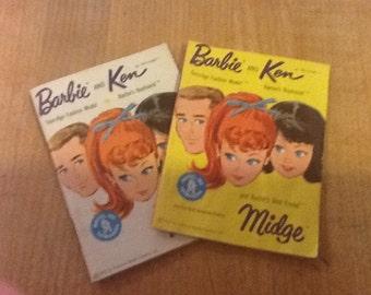Vintage barbie, ken catalogs