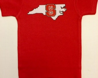 NC State Bodysuit, NC Wolfpack, Baby Clothes/Baby Boys' Bodysuit/Baby Girls' Bodysuit/Baby Shower Gift/Toddler tee shirt/