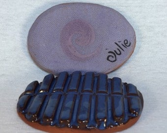 Original Felting Stone with purple swirl