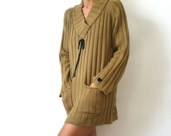 Customized Brown Knit Blouse