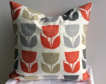 Cushion Cover, Pillow Cover, tulip design16x16 inch or 40x40cm