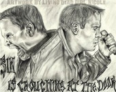 Portrait Drawing Art Print: Genesis 4 -7 - Henry Rollins Jack Cain He Never Died