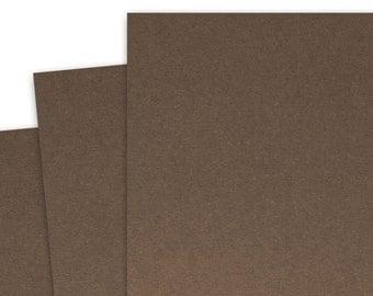 Basis BROWN 80lb Card Stock 8.5x11 - 25 sheets