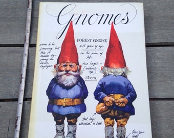 Vintage book- Gnomes, illustrated by Rien Poortvliet, text by Huygen, 1976