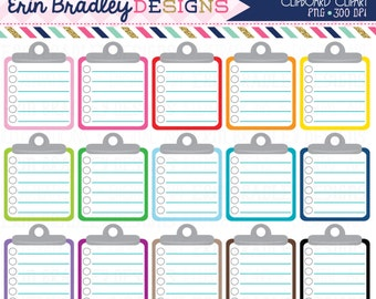 Lined Clipboard Clipart Graphics Personal & Commercial Use Note Paper To Do List Clip Art