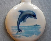 DOLPHINS ceramic ornaments, pull  down menu for styles, free personalizing by Nicole, 22k gold