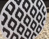 LETTERPRESS COASTERS : Black & White ikat Pattern (Set of 6)