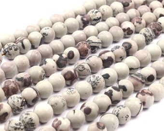 8mm Jasper Gemstone Round Beads T018