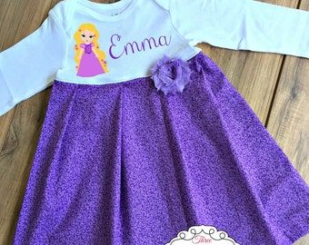 Boutique Personalized Rapunzel Dress Birthday Dress