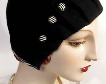 1920's Pleated Brim Cloche