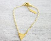 Sale 20% OFF Tiny Triangle Bracelet,  minimalist geometric charm jewelry, girls children kids jewelry