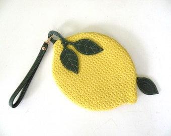 Freshly Picked Lemon Pouch Purse Ipod case
