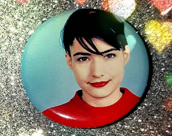 Kathleen Hanna 1.25in button pin badge magnet