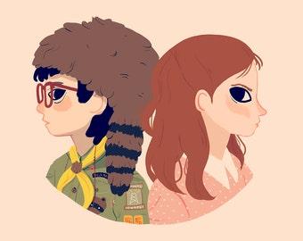 Sam and Suzy - Art Print