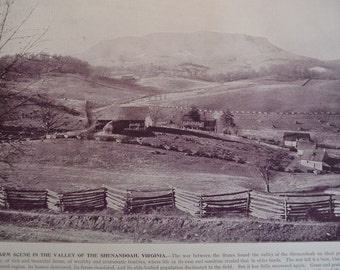 1894 Scenic Photography of America - Shenandoah Valley Virginia - Landscape Nature Antique Victorian Era Fine Art for Framing 100 Years Old