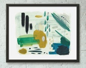 Emerald City Abstract Art Print