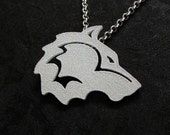 Wolf Spirit Pendant - Tribal Wolf, Wolf Necklace, Wolf Totem, Game of Thrones, Direwolf Pendant, Wolf Head Necklace, Gifts for Him