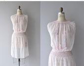 25% OFF SALE Jaroslava dress | vintage 1920s dress | embroidered cotton 20s dress