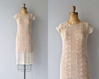 Orlaya lace dress | vintage 1920s dress | sheer cream lace 20s dress