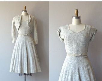 25% OFF.... Softer Still dress | vintage 1950s dress • cotton embroidered 50s dress