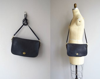 Coach crossbody bag | black leather Coach purse | vintage Coach shoulder bag